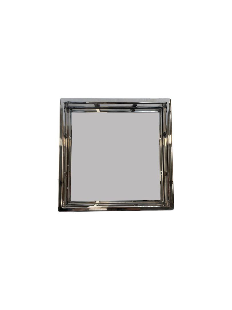 SQUARE STEEL MIRROR TRAY NICKLE FINISH image 2