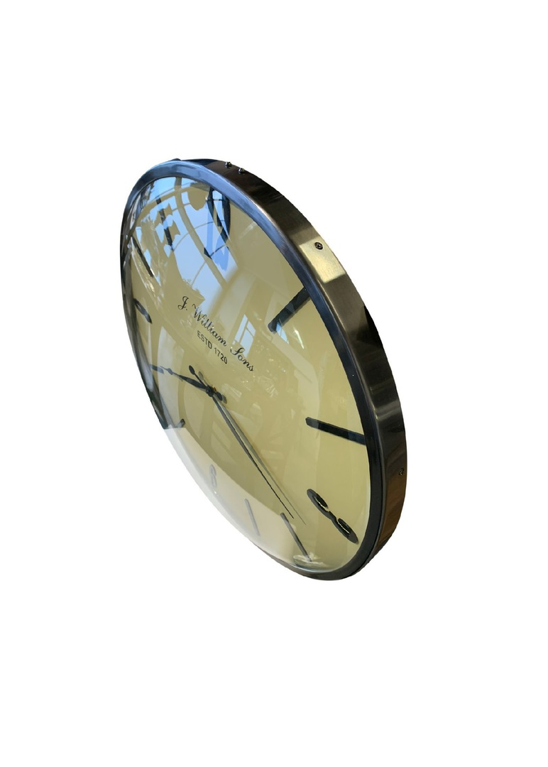 DOME GLASS WALL CLOCK image 1
