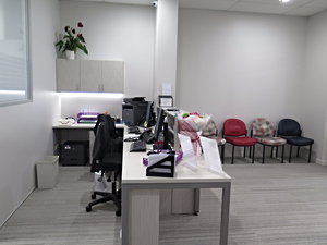 Meadowbank GP Reception desk design