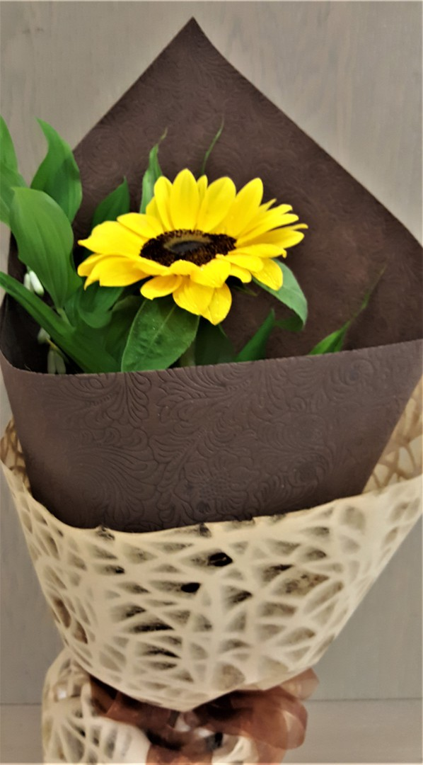 Single Styled Sunflower image 0