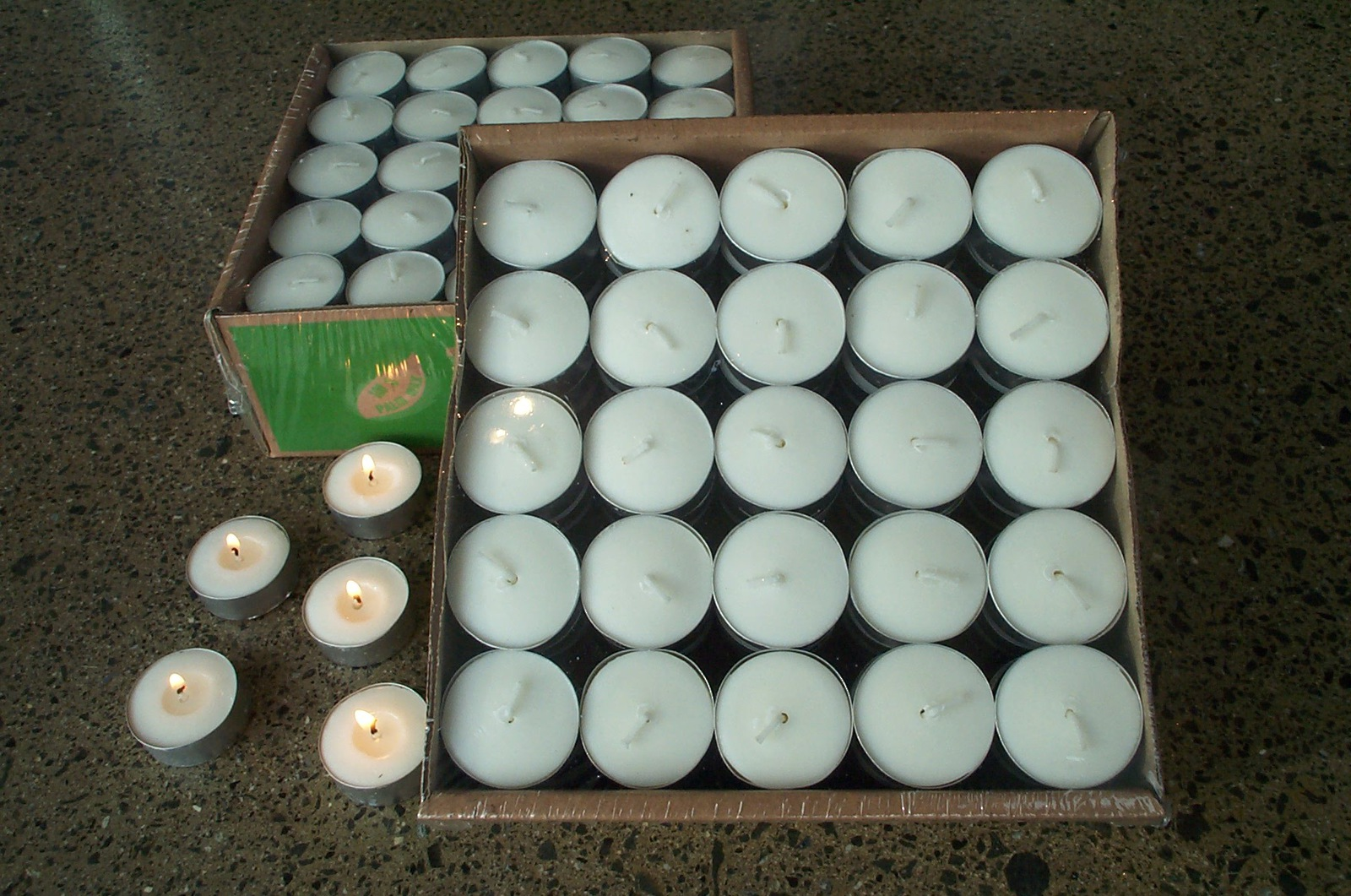 Tea Lights- Palm wax box 100 non fragrant image 0