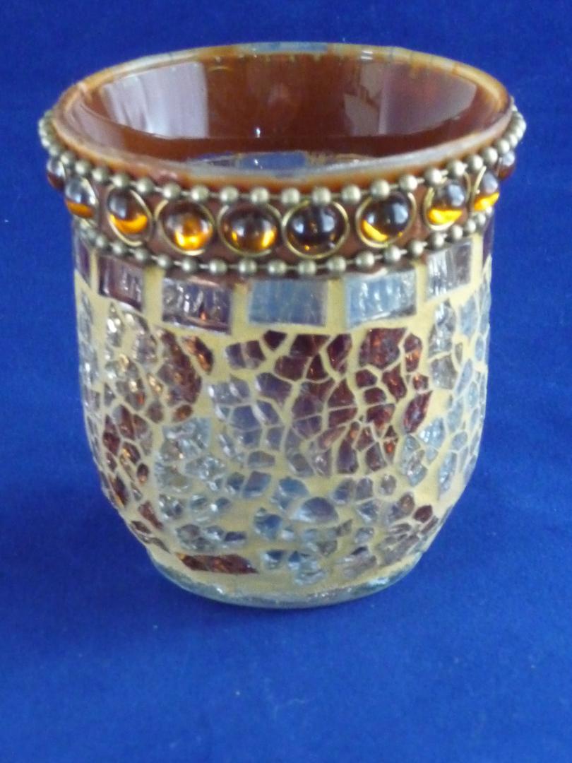 Gold Mosaic tea light/votive holder image 0