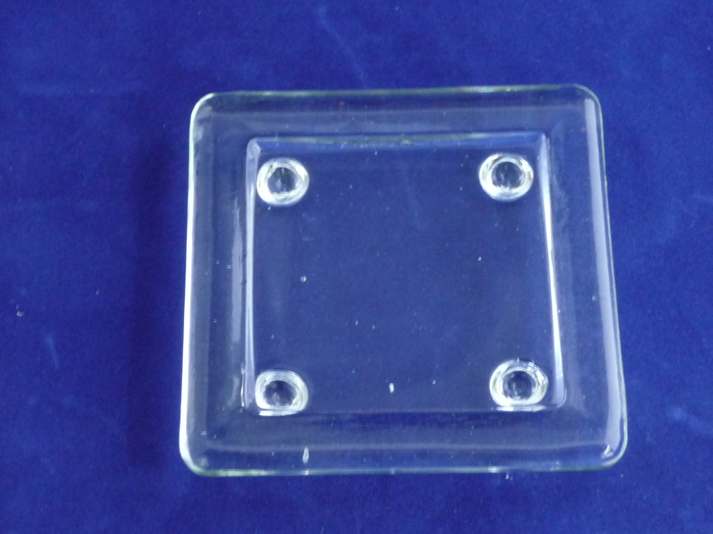 Square glass candle plate image 0