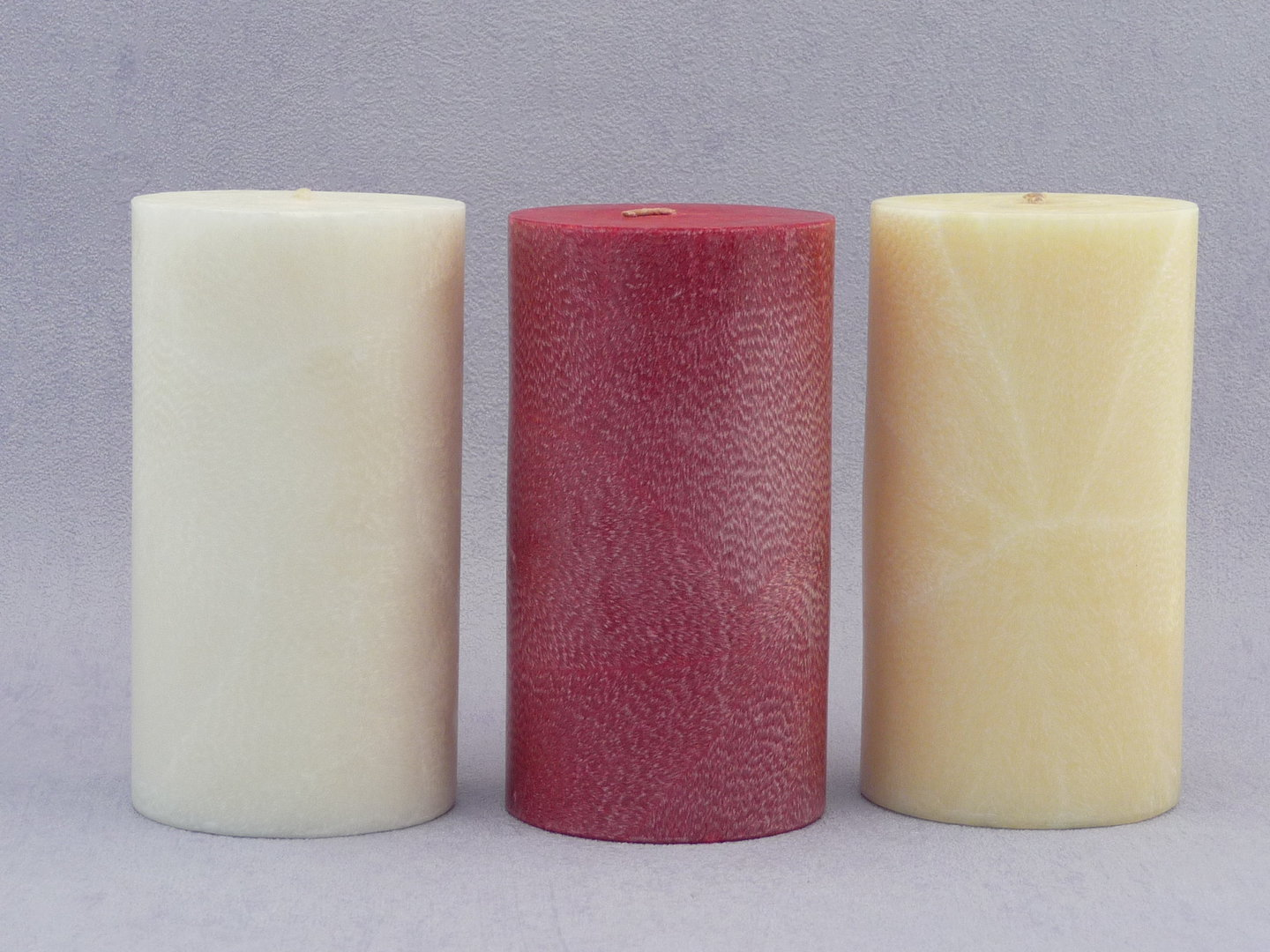 White  scented Candle - pillar 7.5 x 14cm image 0