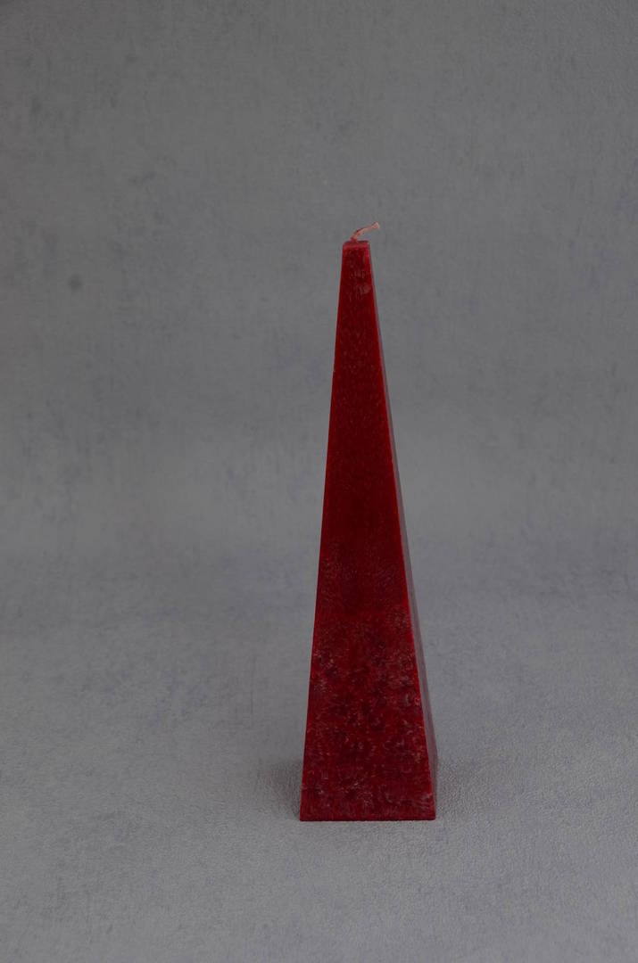 Small Red Cranberry Fragrance Pyramid Candles, boxed. image 0