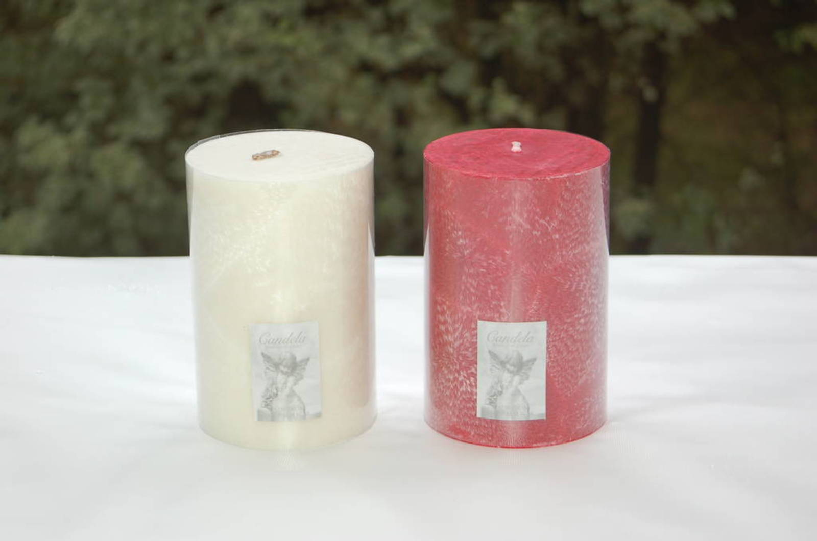 Candle - pillar 10x15 White,  fragranced image 0
