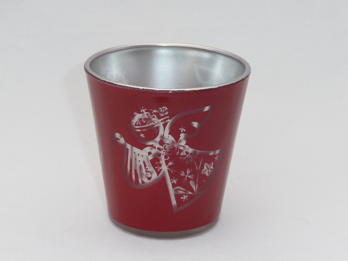 Red, Angel tea light holder image 0