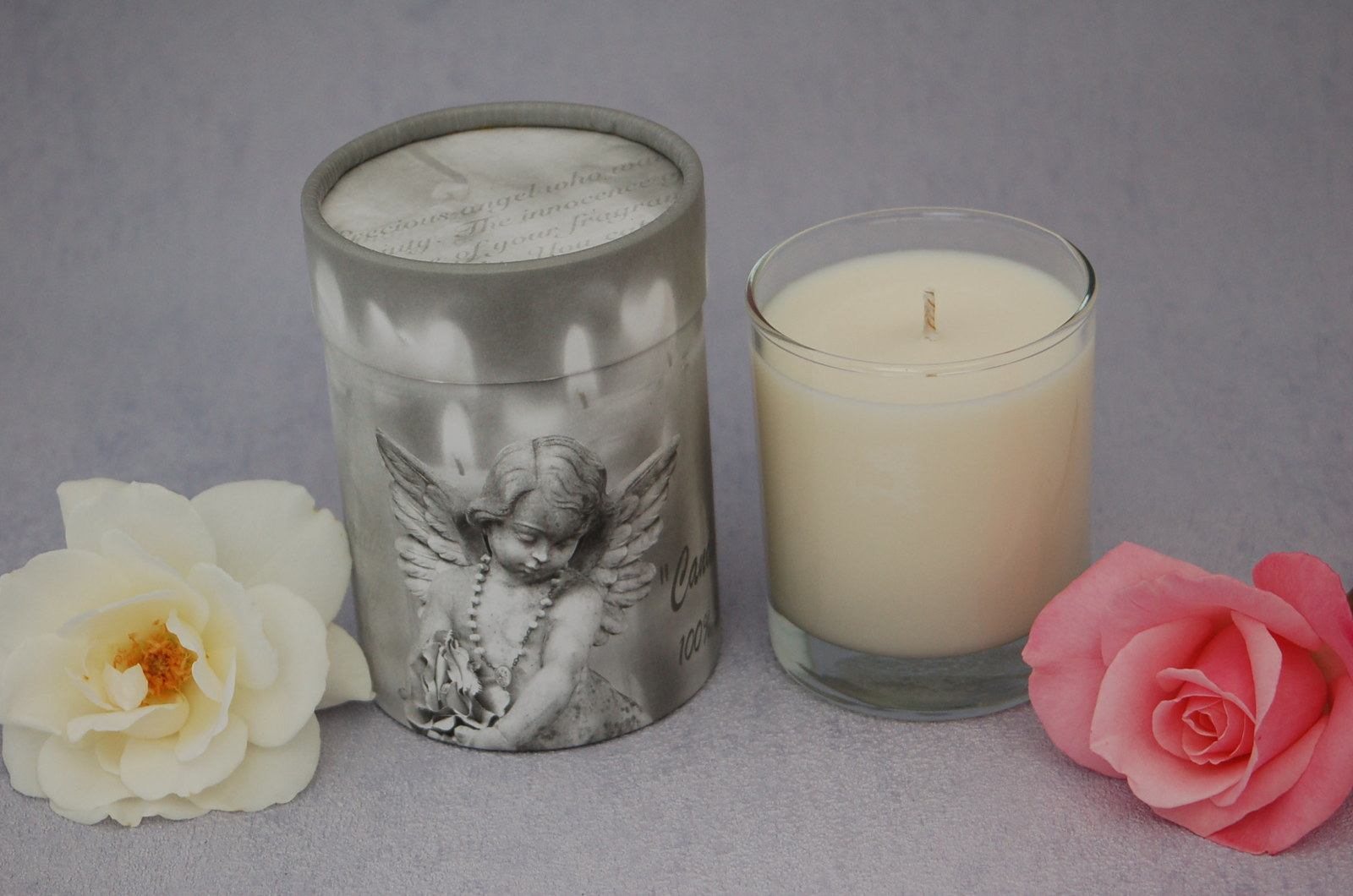 White Tea Fragrance, Angel box candle with a choice of five fragrances image 0
