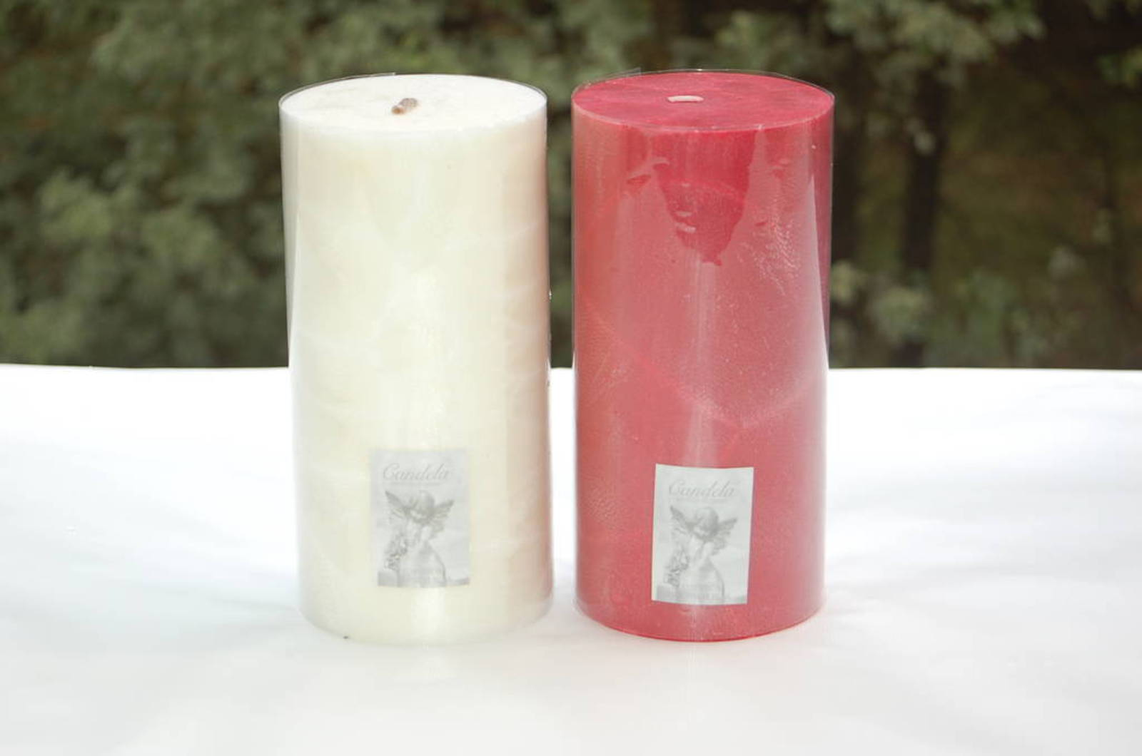 Candle - pillar 10x20 Red, Cranberry fragrance image 0
