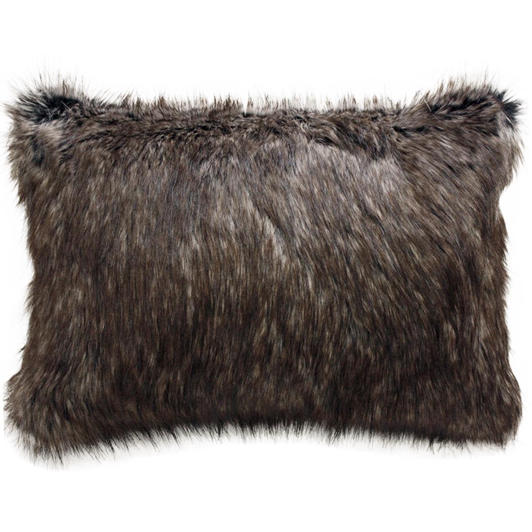 Heirloom Exotic Faux Fur Cushion / Throw -  Husky image 1