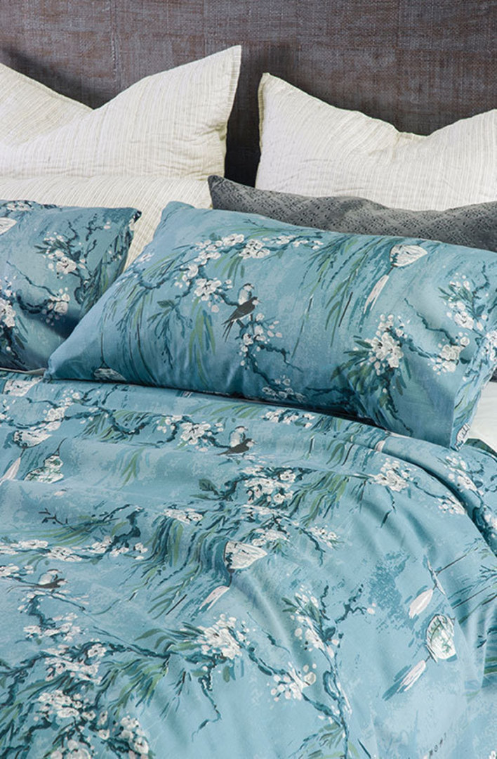 Bianca Lorenne - Chouchin  Duvet Cover Set -  Cerulean Blue image 0
