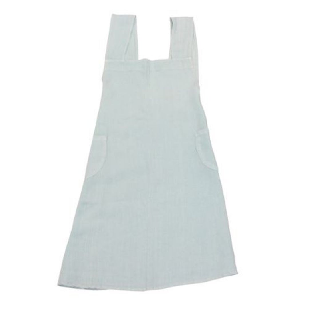 French Country - Aprons Cross Back - Grey, Navy, Pale Blue, Natural image 2