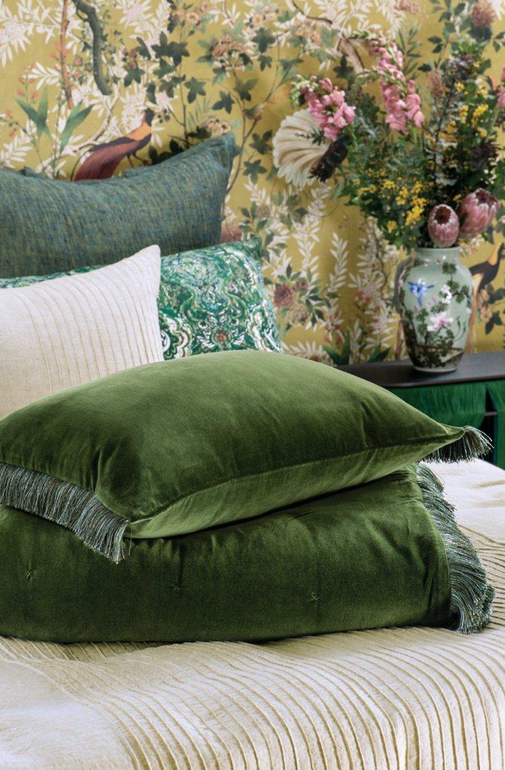 Bianca Lorenne - Tramonto - Comforter/Eurocase/Cushion - Green image 1
