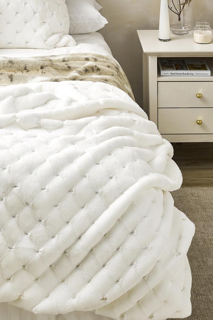 Heirloom Exotic Faux Fur -  Cushion / Throw  -  Valentina - White image 0