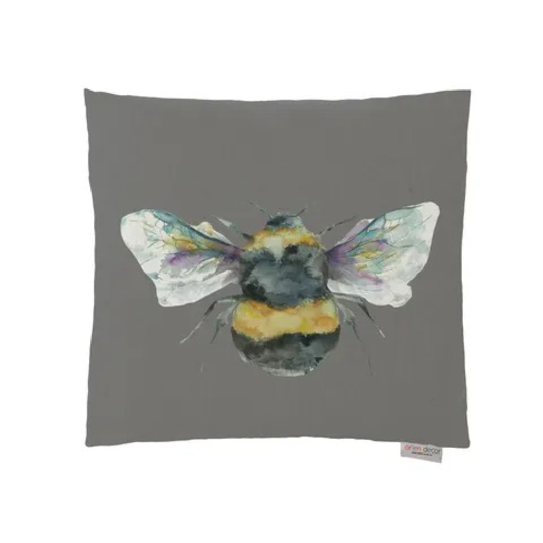 Voyage Maison - Bee Cushions - Duckegg/ Linen/Silver/Slate image 3