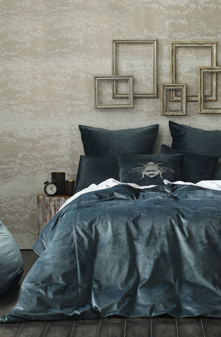 MM Linen - Velvet Duvet Cover Set - Bluestone image 0