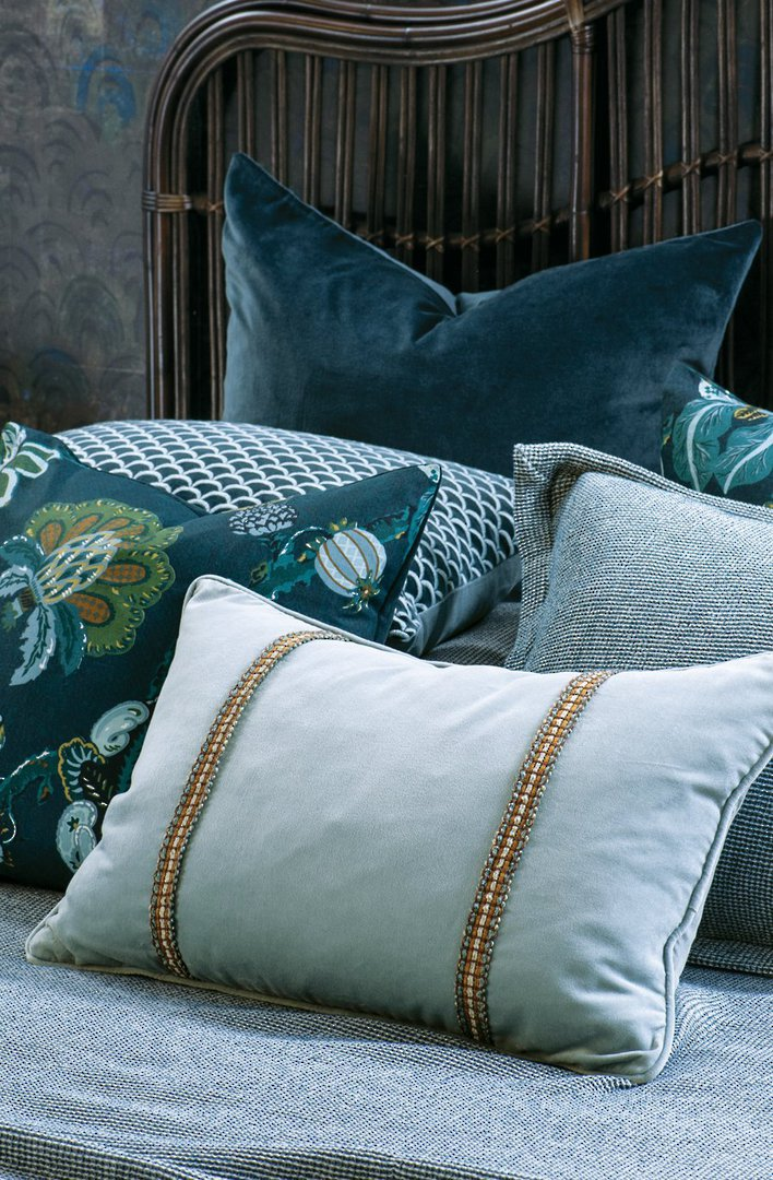 Bianca Lorenne - Luchesi Comforter/ Eurocase /Cushion - Smoke Blue image 1