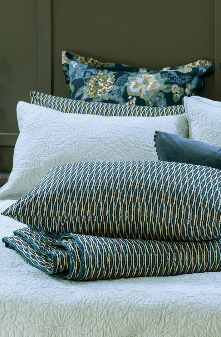 Bianca Lorenne - Kumo - Coverlet/Eurocase/Pillowcase - Blue image 1