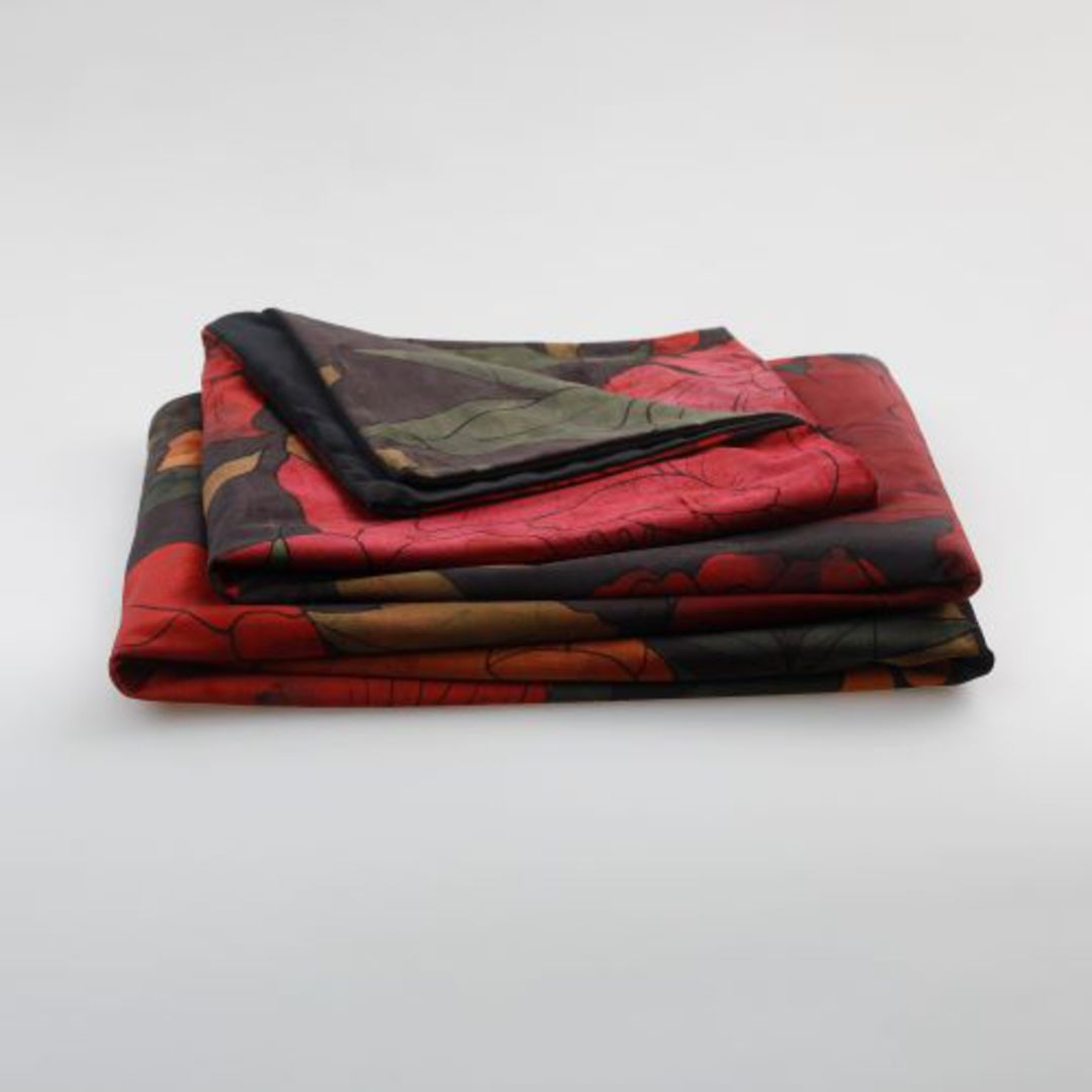 MM Linen - Sumi Velvet Throw image 2