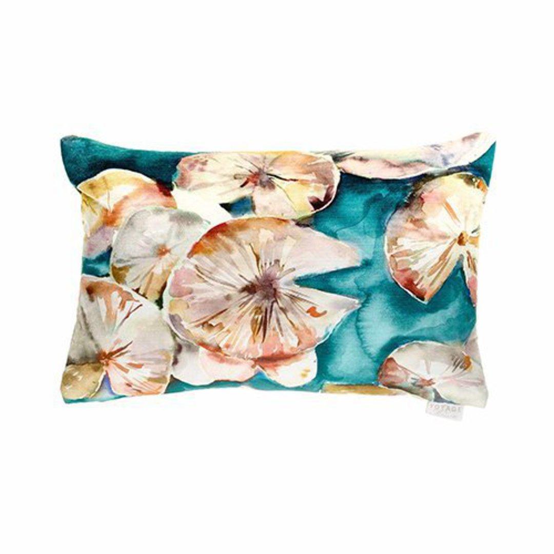 Voyage Maison - Lily Pad Cushion - Emerald image 0