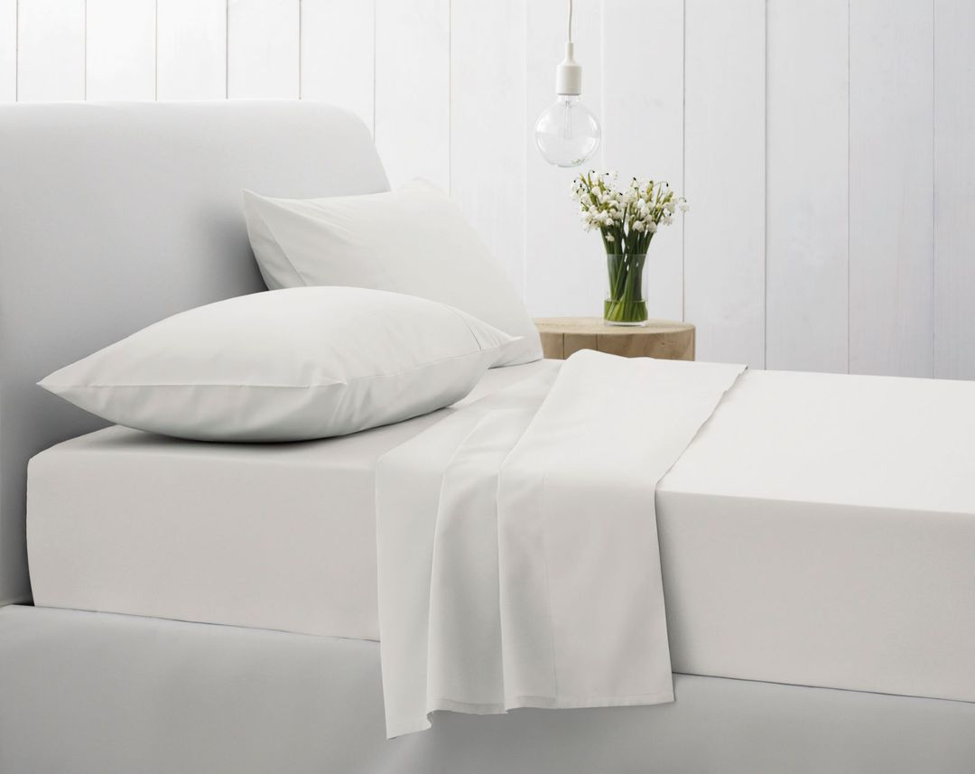Sheridan - 500TC Egyptian Blend Twill Sheet Sets - Snow image 0