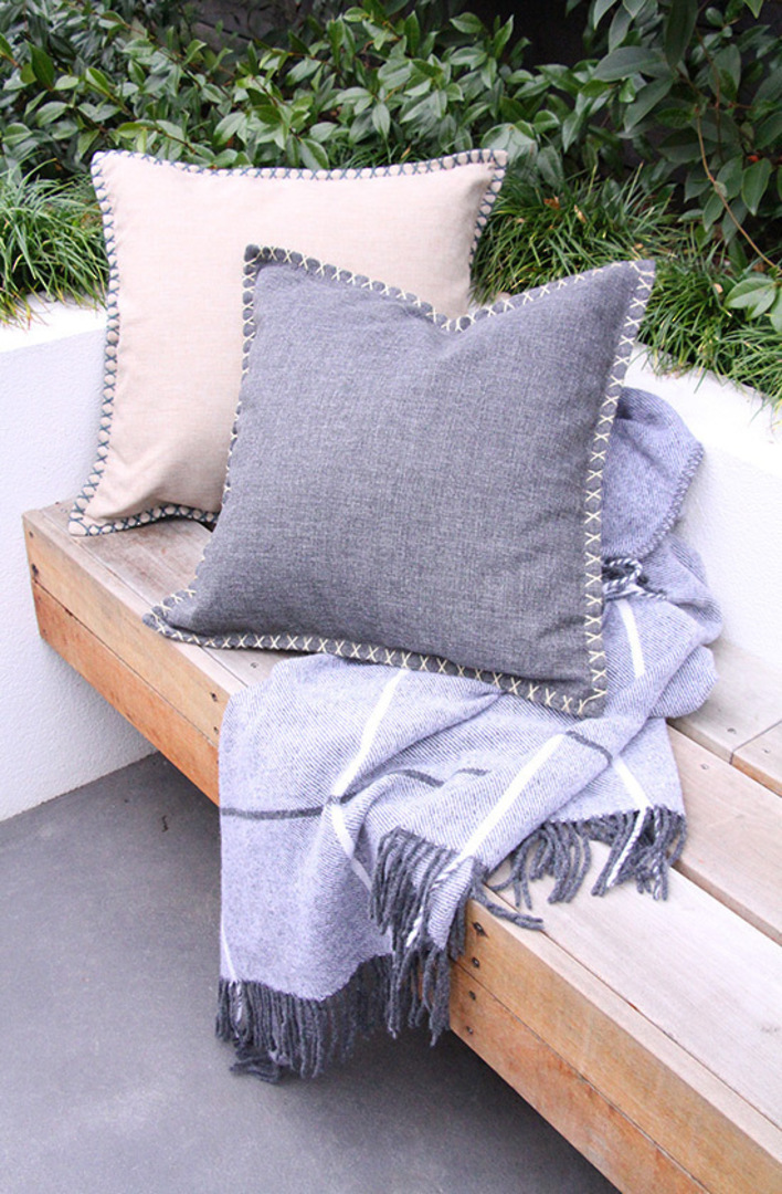 MM Linen - Kalo Outdoor Cushion - Charcoal image 0