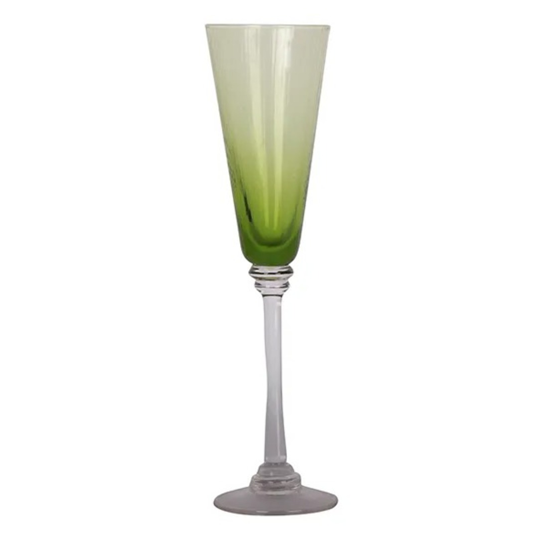 French Country - Talbot Champagne Glass - Green image 0
