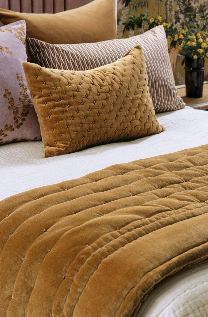 Bianca Lorenne - Mica - Comforter / Pillowcase/Eurocase/Cushion - Antique Gold image 0