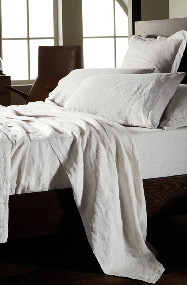 Sheridan - Abbotson White Linen Sheets /Pillowcases /Eurocases image 0