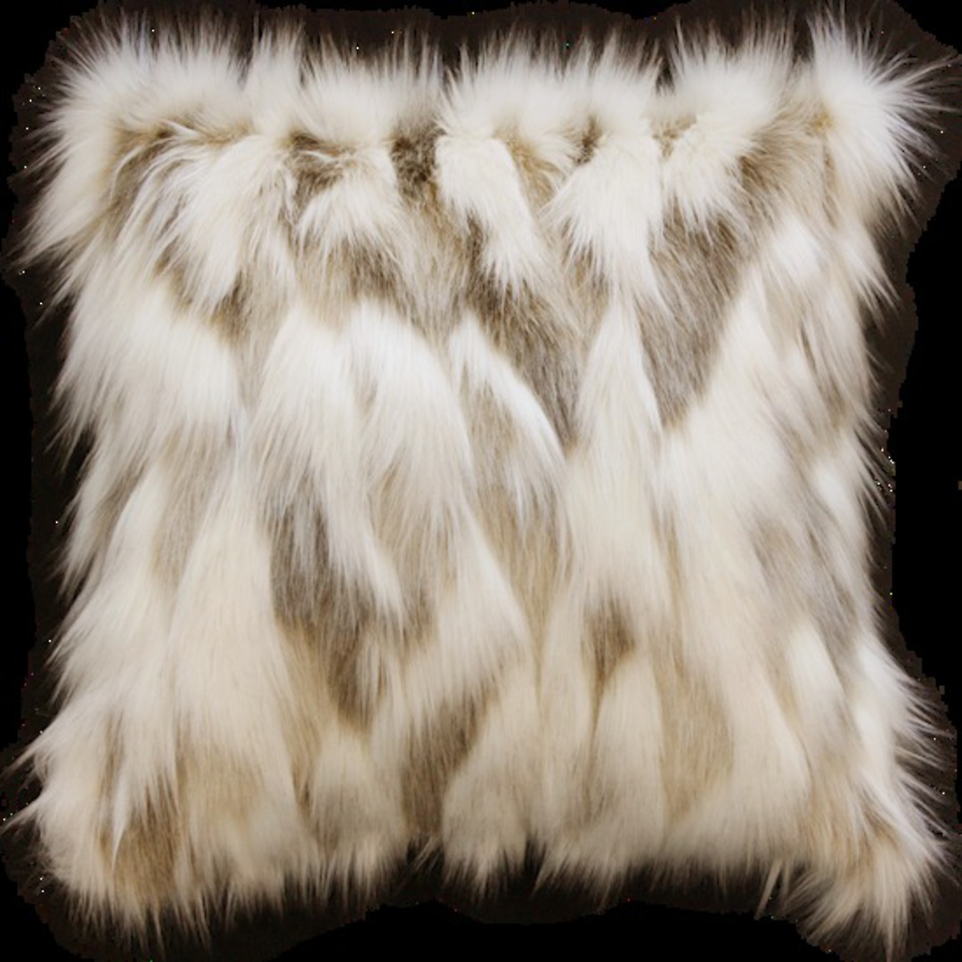 Heirloom Exotic Faux Fur - Cushion / Throw- Snowshoe Hare image 1