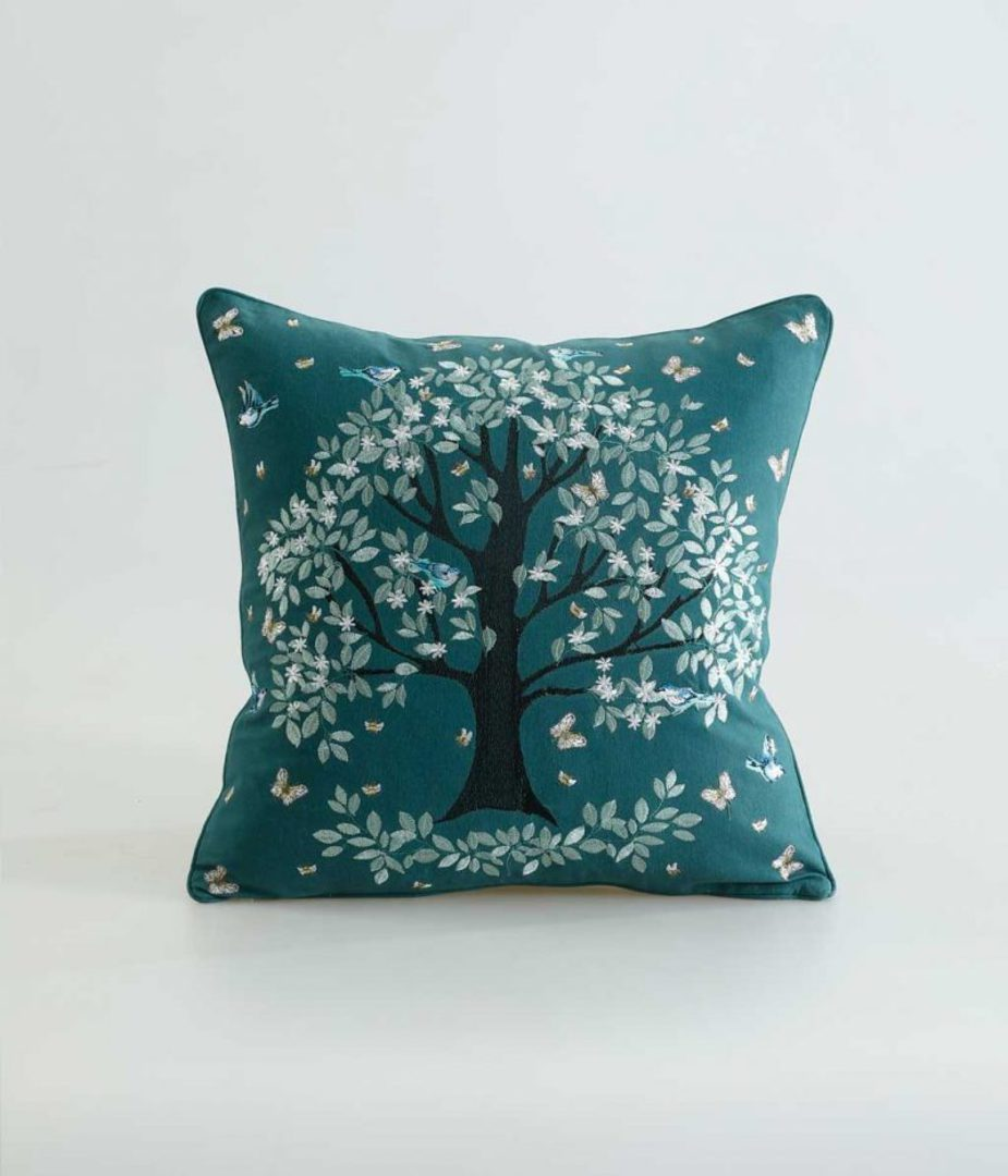 MM Linen - Flourish Cushion - Green image 0