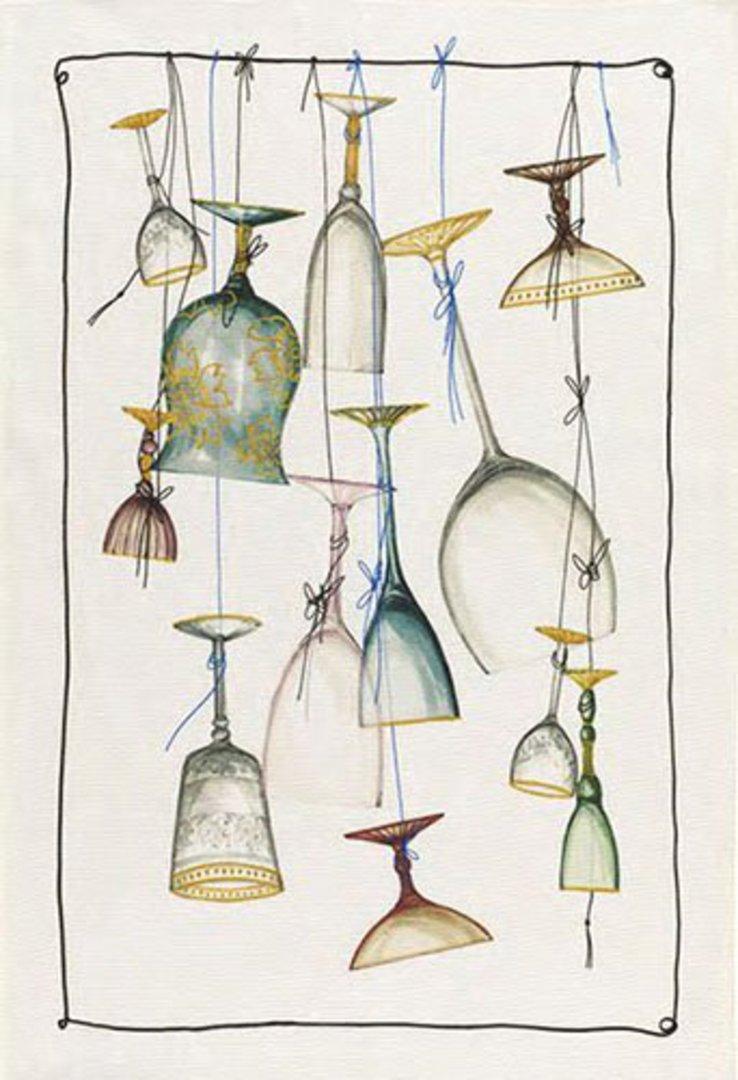 Importico - Tessitura Toscana Telerie - Murano Glass Linen Teatowel image 0