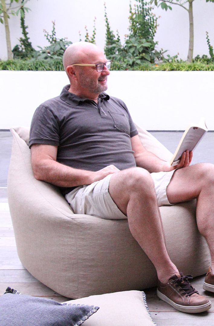 MM Linen - Kalo Natural Outdoor Bean Chair - Unfilled image 0