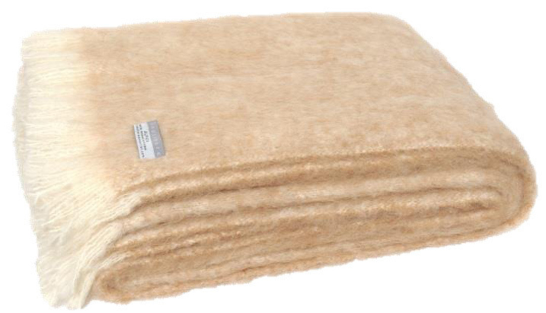 Alpaca Sand - Brushed Throw by Master Weave image 0