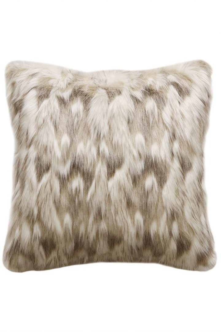 Heirloom Exotic Faux Fur - Cushion / Throw- Snowshoe Hare image 4