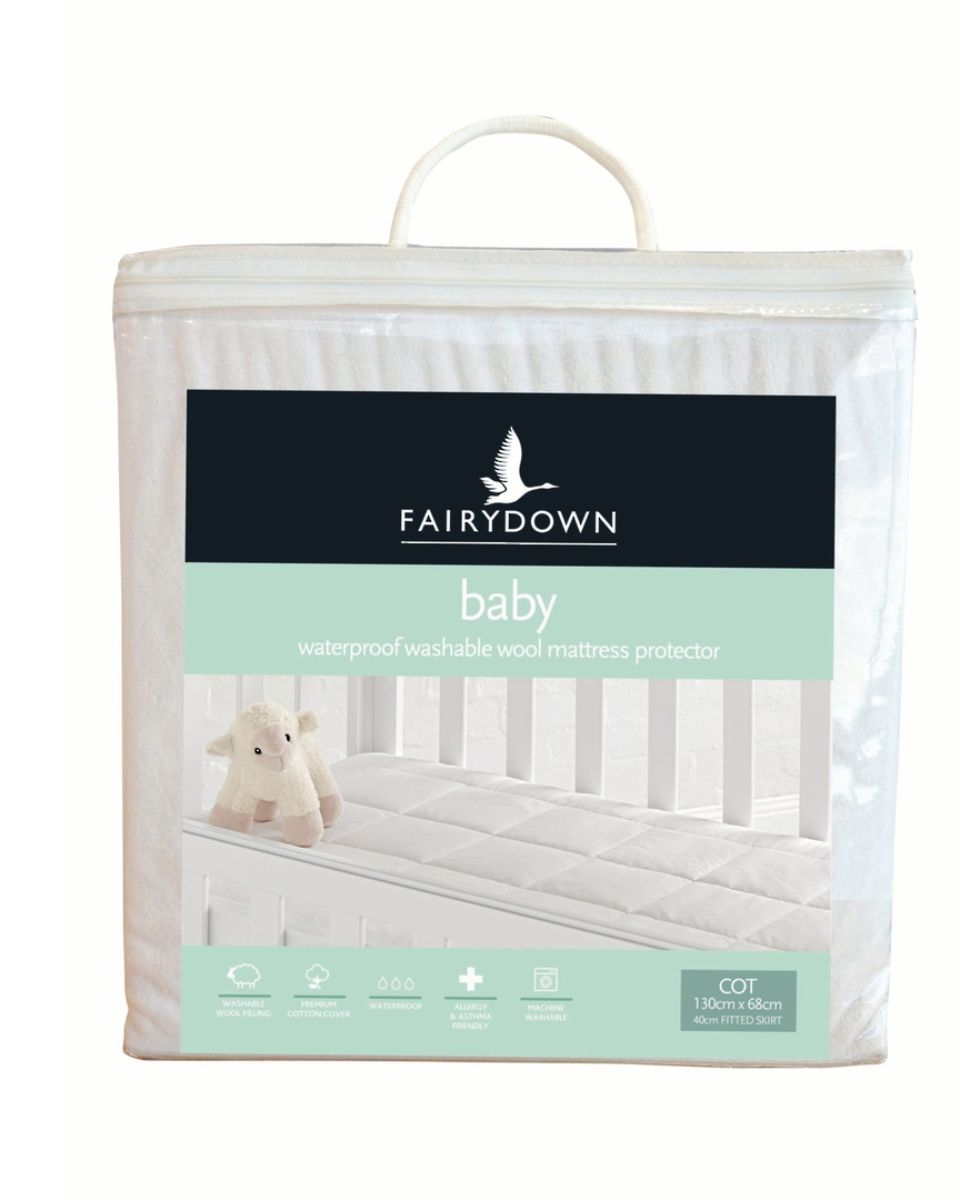 Fairydown - Babies Washable Wool Mattress Protector image 1