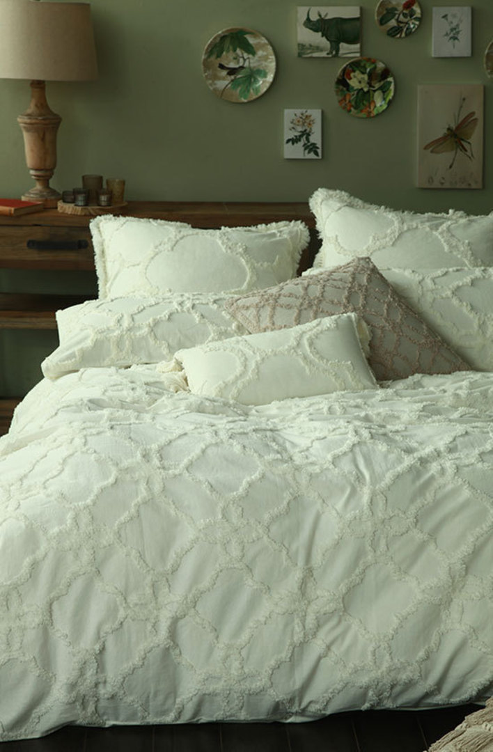 MM Linen - Clover Duvet Cover Set - Ivory image 0