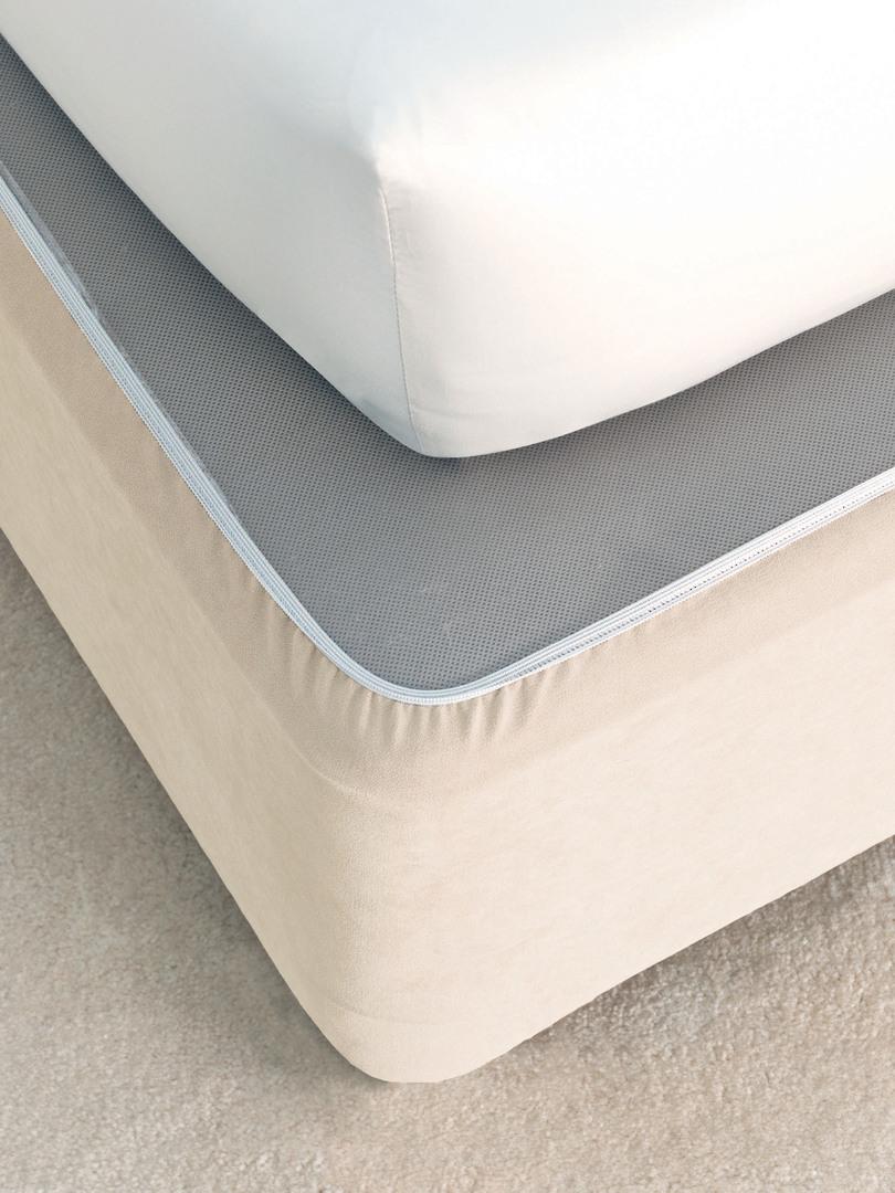 Linen House - Savona Plain Suede Bedwrap - Cream image 0