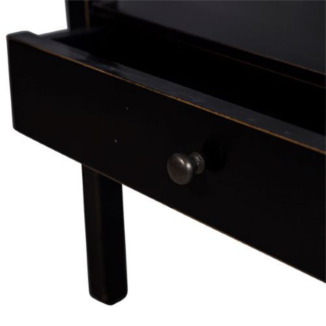 French Country - Santiago Bedside Table - Black image 1