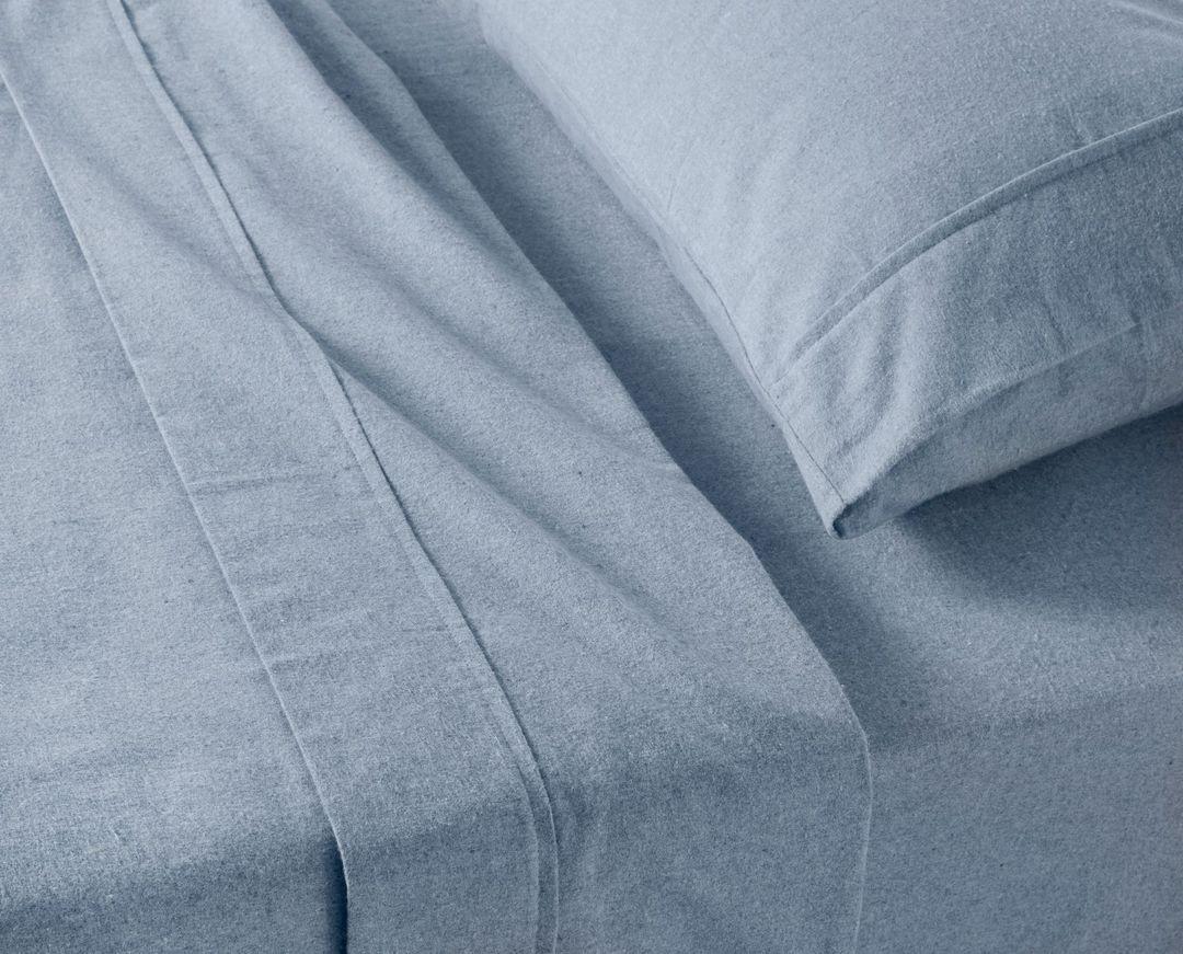 Baksana - Chambray Flannel Sheet Sets - Blue Marl image 0