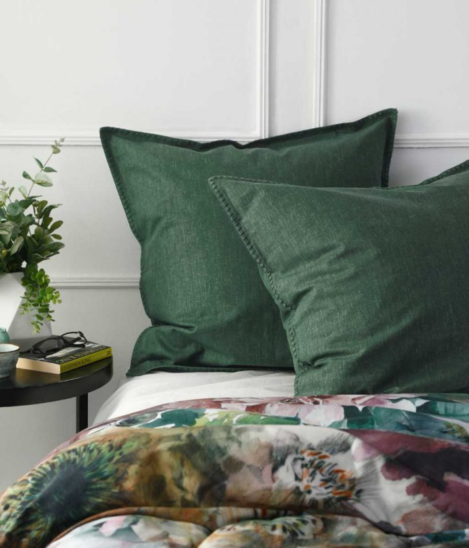 MM Linen - Stitch Duvet Set - Cypress image 2