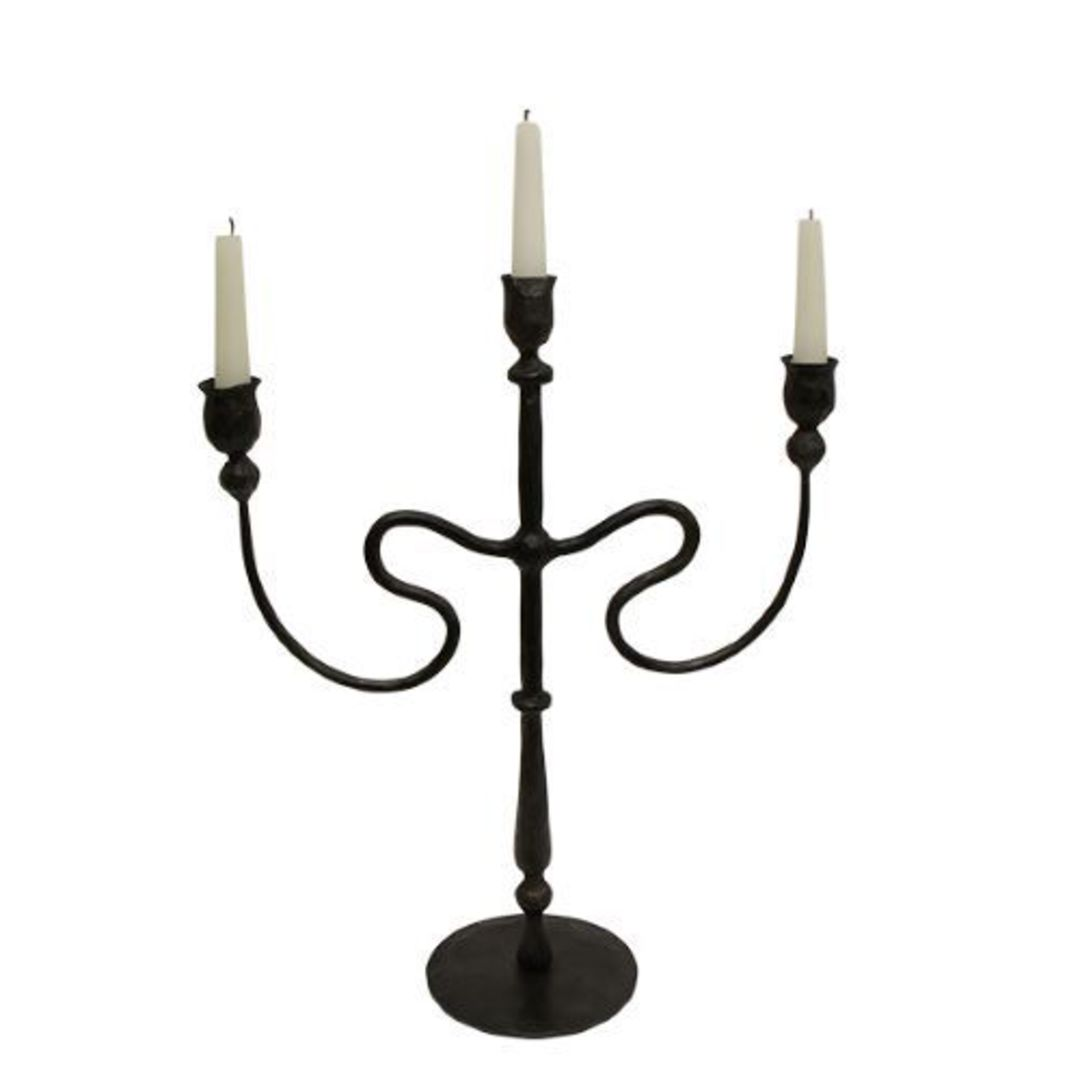 French Country - Raine Iron Candleabra image 0