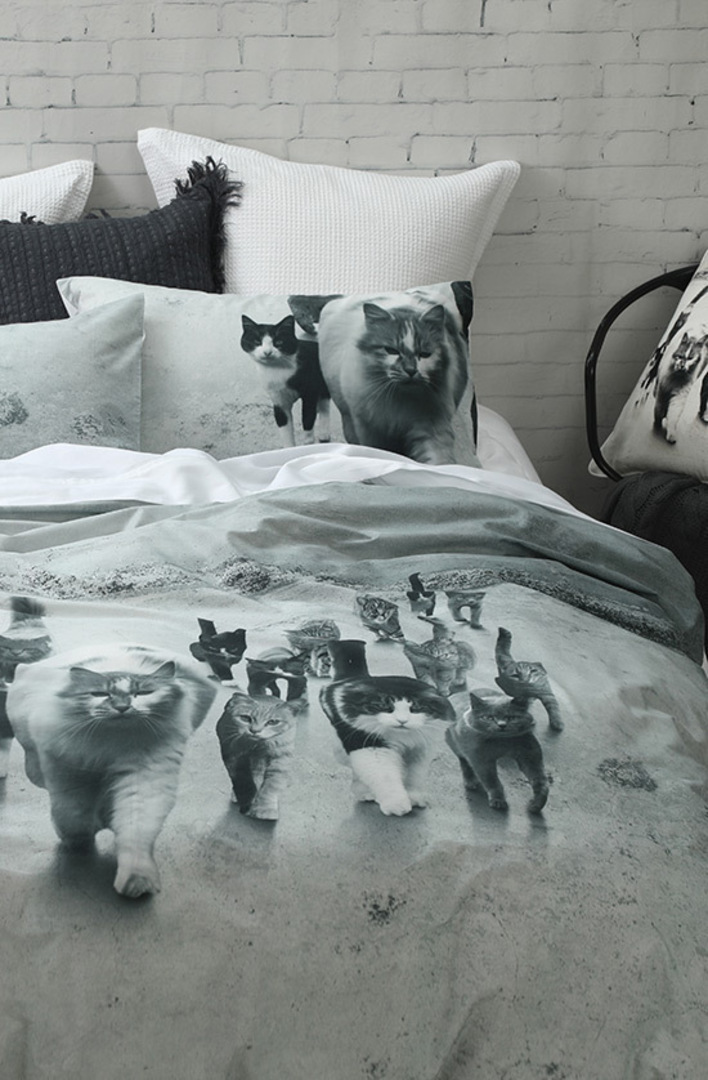 MM Linen - Catmob Duvet Cover Set image 1