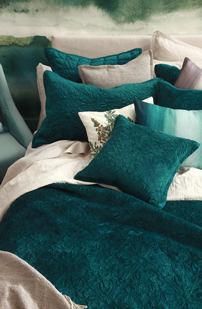 MM Linen Naja Deep Teal King Bedspread Set image 2