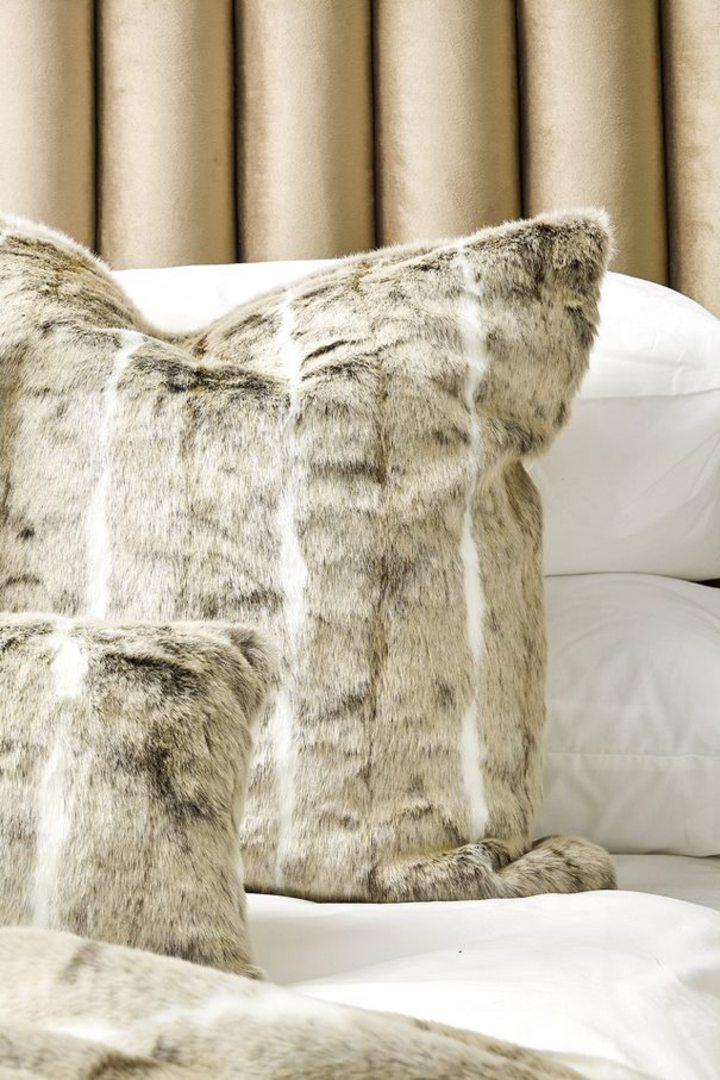 Heirloom Exotic Faux Fur - Cushion / Throw - Mountain Rabbit image 3