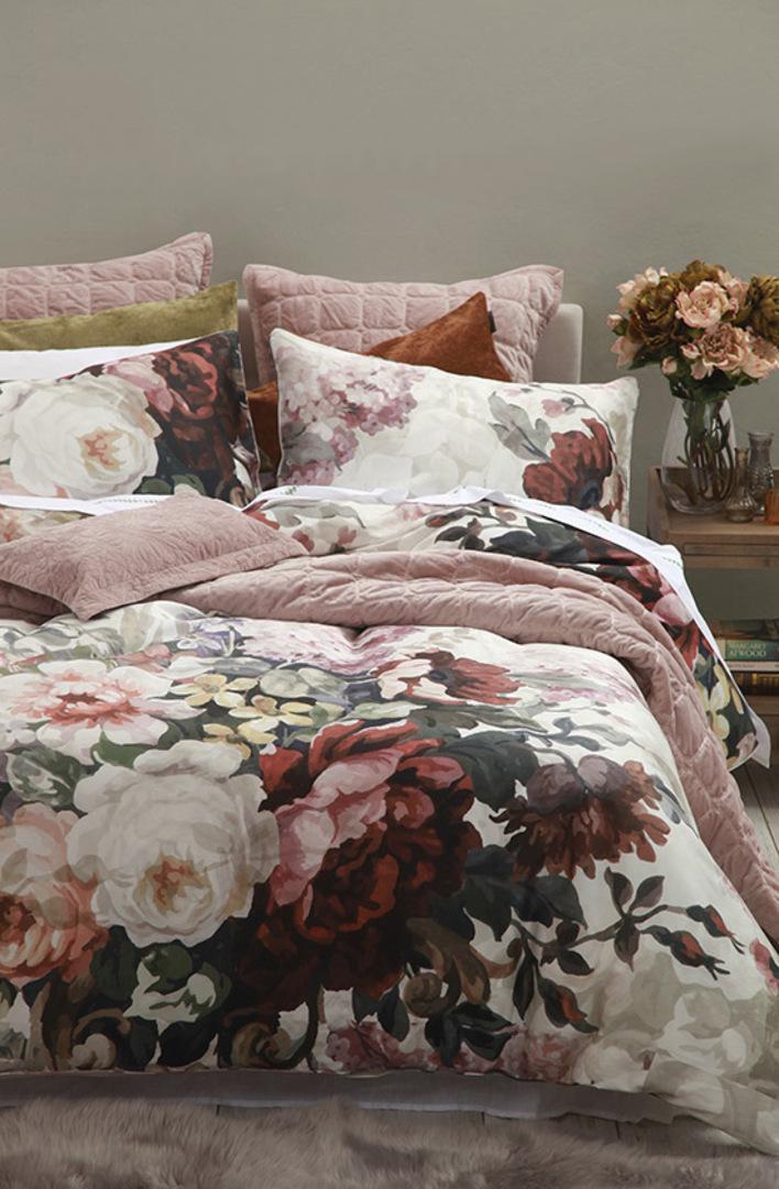 MM Linen - Meeka Rosewood Quilted Comforter Set / Eurocase Set image 2