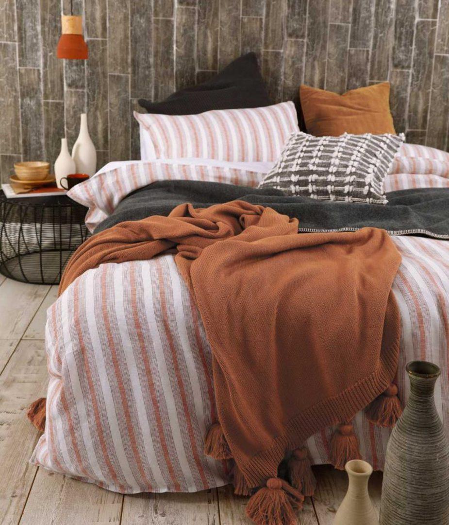 MM Linen - Finch Linen/Cotton Duvet Set - Umber image 1