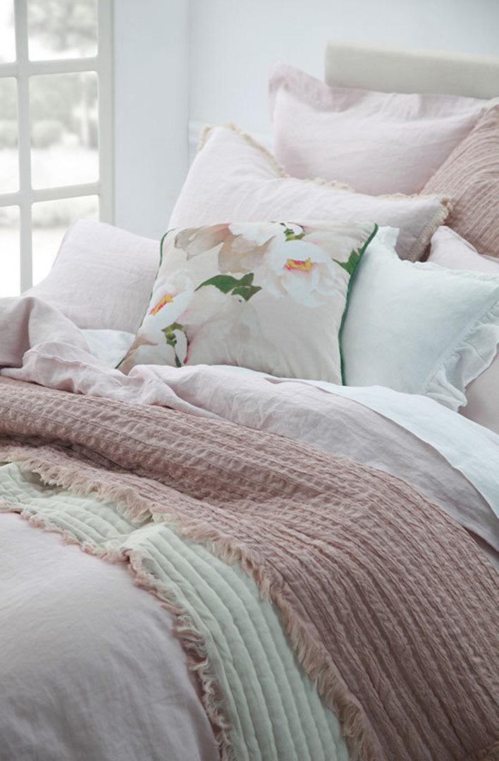 MM Linen - Laundered Linen Duvet Cover Set - Blush image 1