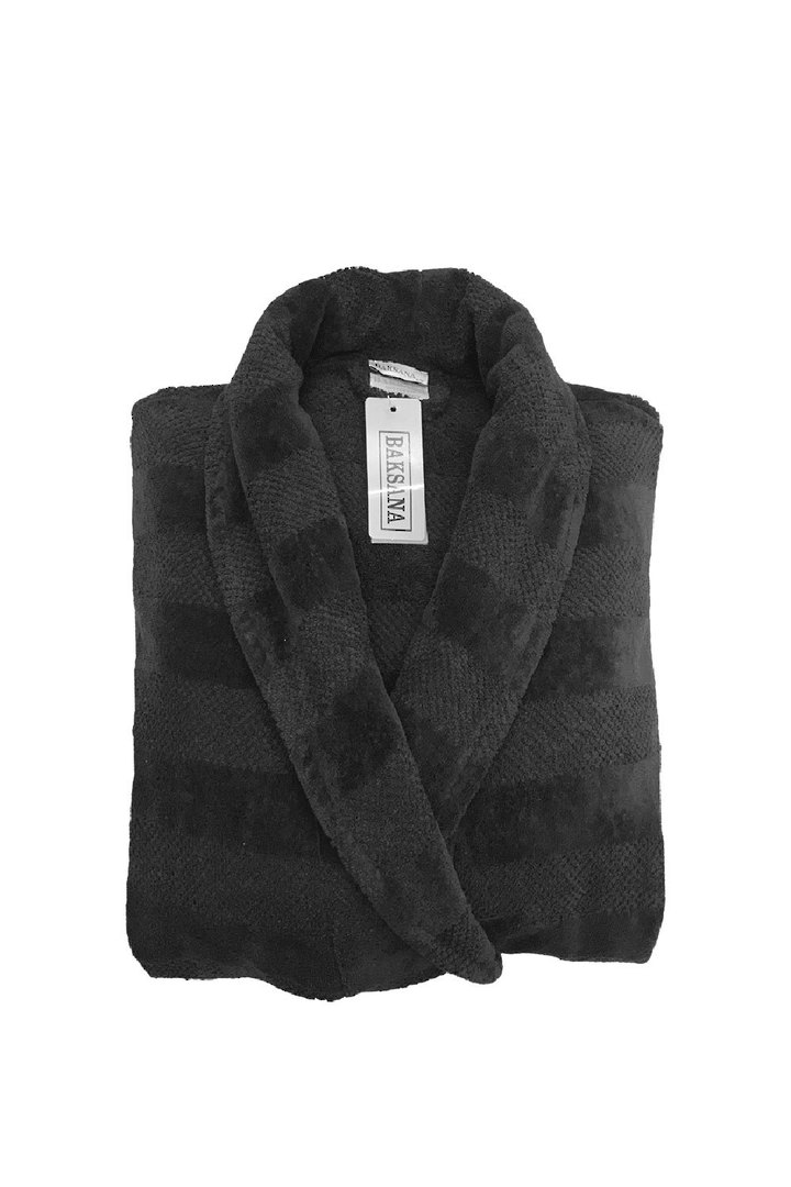 Baksana - Aiden Bathrobe - Black image 1