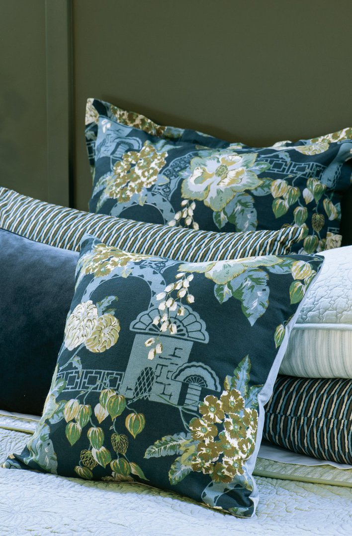 Bianca Lorenne - Chabana - Comforter / Pillowcase/Eurocase/Cushion - Prussian Blue image 4